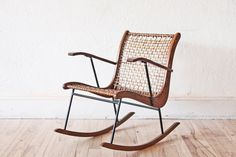 One way to have a rockin' new year: in this mid-century woven rawhide and oak chair, designed by Vernon Tubbs. #etsyvintage