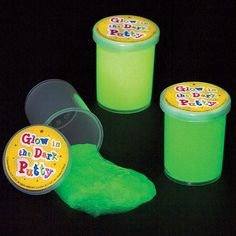 Buy Glow in the Dark Putty at Baker Ross. What on earth is this oozing goo? A gross-out treat sent from space, just for you!Kids with a mischevious sense of humour will b Halloween Goodie Bags, Halloween Treats For Kids, Halloween Goodies, Halloween Stickers, Halloween Crafts, Halloween Party, Party Bag Toys, Slime For Kids, Family Fun Night