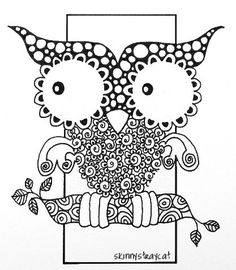 zentangled owl