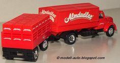 Mein Blog über Modellautos: Grell Modell LKW Lastwagen Anhänger Magirus Deutz China Decals