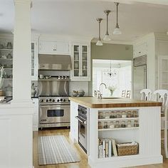 Lovely butcher block island