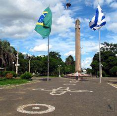 Border between Livramento, Brazil & Rivera, Uruguay
