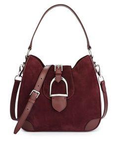 Equestrian Soft Suede Hobo - Ralph Lauren Ralph Lauren Handbags - RalphLauren.com