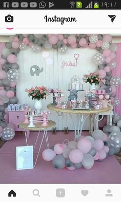 Elephant Baby Showers, Pink Elephant, Girl Baby Showers, Baby Shower  Planner, Twin Boys, Baby Shower Stuff, Ideas Para Fiestas, Babyshower, Baby  Ideas