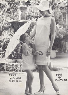 love this 1960s mommy and me shot