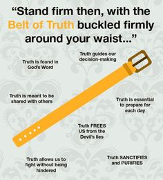 Belt of Truth. Eph. 6:14
