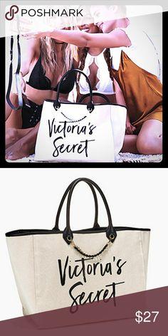 5952fa1ba73 Victoria s Secret Tote Bag Beautiful Canvas Tote Victoria s Secret Bags  Totes