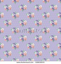 Seamless cute pattern of small flowers. Floral simple diagonal seamless background for textile or book covers, manufacturing, wallpapers, print, gift wrap and scrapbooking. Trendy colors millefleurs.
