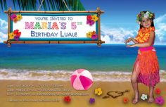 Luau Birthday Party - Luau Party - Pool Party - Beach Party - Pool Birthday. $25.00, via Etsy.