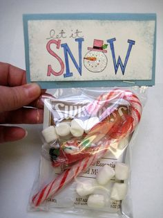 Snowman soup is one of my favorites, an easy way to let someone know you care.