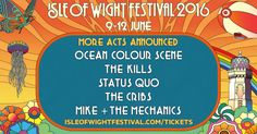 Breeze Restaurant, Ocean Colour Scene, Top 10 Albums, Genesis Band, Isle Of Wight Festival, Free Cars, Festival 2016, Car Parking, Wi Fi