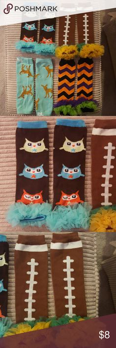 Baby leggings Baby Leggings set of 4 fall/football/halloween.  EUC. Only used once for photo shoot. Smoke free home. Accessories Socks & Tights