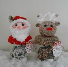 Na vele vragen en berichtjes of ik ook een patroon van de kerstpotjes had... Heb ik besloten om ze uit te schrijven, het was een klusje.....