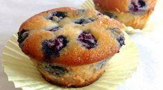 muffins com blueberries com farinha de amendoas