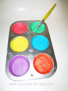 Bath Activities for Kids: Baby Bath Paint Recipe very easy to make this must try with kids