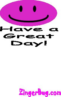 Have A Great Day Bouncing Smile Glitter Graphic, Greeting, Comment, Meme or GIF