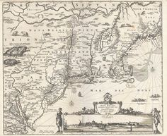 1758 Montreal or Ville Marie Town Map Wall Poster Decor Vintage History Quebec
