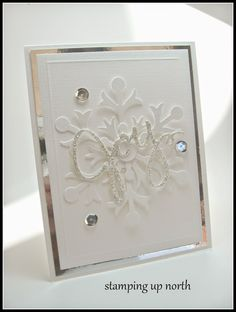 stamping up north, silver and gold challenge, paper players, Stampin Up Christmas card