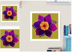 Retro Flower Patterns – Big Fat Arts Gallery Flower Pattern Design, Flower Patterns, Flower Designs, Floral Design, Metro Retro, Fat Art, Retro Flowers, Retro Design, Online Art Gallery