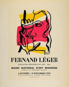 1959 Lithograph Fernand Leger Art Retrospective Mourlot - ORIGINAL