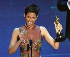 Halle Berry accepting her best actress Oscar in 2002.  ah-ma-zing!