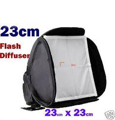 23cm x 23cm Flash Diffuser Softbox Soft box For Pentax &lympus Sunpak Metz Yongnuo YN565 YN-560II YN560 YN568 and other flahes