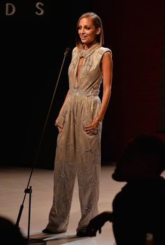 Pin for Later: You Won't Believe How Much Nicole Richie Has Changed Since 2001  Nicole sported a sequin Giorgio Armani jumpsuit while hosting the Style Awards in NYC in September 2013.