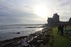 Shoreline at Ackergill Castle, Wick Scotland