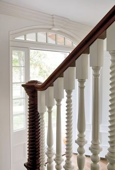 mixed balusters - so pretty