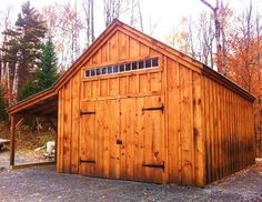 14x20 Garage. Example shows optional double doors vs overhead door style + 8x20 overhang. Standard Plans $39.95, Kits - 2 people 30 hours + Fully Assembled in the northeast. Kits ship *Free in the continental US + eastern Canada. http://jamaicacottageshop.com/shop/one-bay-garage/ http://jamaicacottageshop.com/wp-content/uploads/pdfs/pdf14x20onebaygarage.pdf http://jamaicacottageshop.com/free-shipping/ #jamaicacottageshop #garages #barngarage #barns #barn #shed #sheds