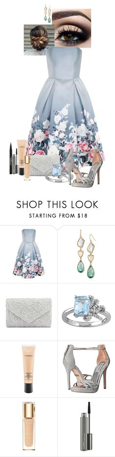 """Nickelodeon Orange carpet"" by huntress-383 ❤ liked on Polyvore featuring Chi Chi, Stella & Dot, Laura Ashley, MAC Cosmetics, Badgley Mischka, Clarins and Trish McEvoy"