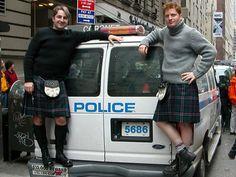 """A photo taken for """"Wear a Kilt to Work Day"""" I want to work at a place where they celebrate this day."""