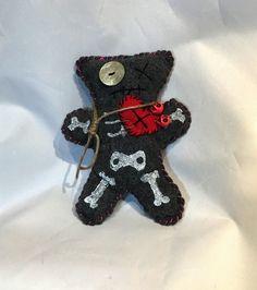 Voodoo Doll, Pincushion, Skulls, Skeleton,Primitive Art, Doll, Art Doll, Juju Doll, Halloween decor, Rag Doll by KatAndersonStudios on Etsy