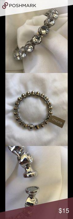 CHICO'S BRACELET NWT CHICO'S RHINESTONE BRACELET. MAGNETIC CLOSURE. BANGLE. SORRY NO TRADES. Chico's Jewelry Bracelets