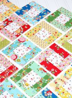 Sewing Block Quilts 6 heads 12 blocks - August Bright Hopes quilt block tutorial by Nadra Ridgeway, Ellis Jellyroll Quilts, Patchwork Quilting, Scrappy Quilts, Easy Quilts, Mini Quilts, Crazy Quilting, Quilting Fabric, Crazy Patchwork, Jelly Roll Quilt Patterns