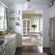 Decorate with White | Dress tight quarters in bright white for a more spacious and airy feeling. As the light changes, so will the space's color and ambience. | SouthernLiving.com