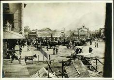 Patios de la Estación del Golfo a la llegada de Venustiano Carranza, 1914