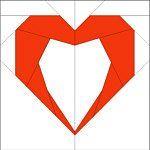 paper pieced heart blocks