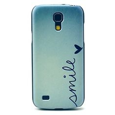Smile Letter Heart Pattern Hard Back Cover Case for Samsung Galaxy S4 Mini I9190 - USD $ 2.99