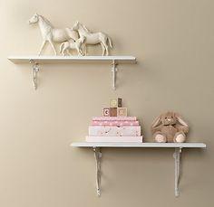 RH: Vintage wall shelves