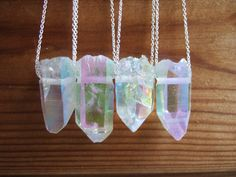 Loving these opal aura quartz point necklaces — could be fun for layering.