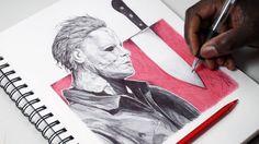 INKTOBER DAY 30 - Drawing Michael Myers - Halloween - DeMoose Art