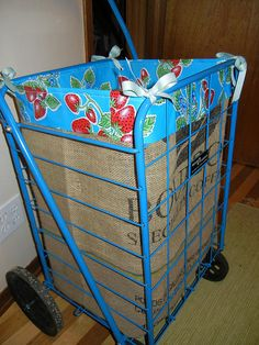 Easy project: how to make a folding shopping cart liner with leftover materials - Nest Vintage Modern