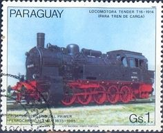 Stamp: Locomotive T 16, 1914 (Paraguay) (150 years German railways) Mi:PY 3900