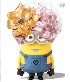 Effie Trinket, Despicable Me Minion. So. So perfect lol. Two of my favorite things in one.