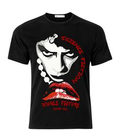 Rocky Horror Picture Show Science Fiction Lips Adult Movie T-Shirt Science Fiction, Valentine T Shirts, Valentines, Unique T Shirt Design, Rocky Horror Picture Show, Movie Shirts, Rock T Shirts, Band Merch, Great T Shirts
