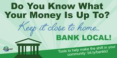 share the good news! Banking with a community financial institution is an easy way to boost your local economy and save money at the same time! Small Business Marketing, Financial Institutions, Do You Know What, Good News, Saving Money, Community, Good Things, Easy, Save My Money