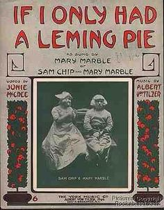 If I Only Had a Leming Pie vintage sheet music
