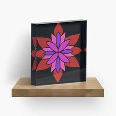 """Lotus Star Design"" Acrylic Block by Pultzar   Redbubble"
