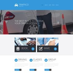 Traffic School Responsive Website Theme